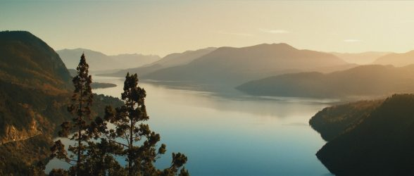 """Bird eye view of the Lacar Lake near San Martín de Los Andes - Still frame from the documentary """"Land of The Wind"""""""